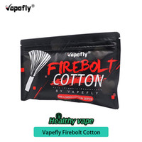 Wholesale electronics spares resale online - 100 original Vapefly Firebolt Organic Cotton for DIY Coil pack Building Electronic Cigarette Spare Part For DIY RDA RBA RTA