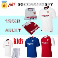 ingrosso camicie uniformi per la vendita di uomini-19 20 football club Soccer Jerseys bianco 19/20 Uomo Soccer Shirts rosso # 9 BEN YEDDER blu uniformi da calcio Le vendite