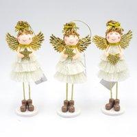 ingrosso ornamento angelo d'oro-Rifornimenti di festival della decorazione della casa di natale del regalo dell'ornamento da tavolino dell'ornamento da tavolino dell'ornamento della bambola di angelo dell'oro di Natale