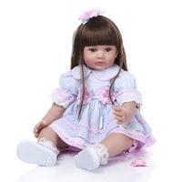 ingrosso migliori bambole del ragazzo-60CM Big Size Silicone Reborn Baby Dolls Giocattoli Panno Body Boy Reborn Toddler Babies Bambole appena nate per bambini Miglior compagno di giochi