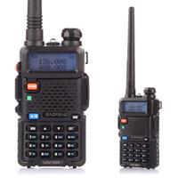 çift bantlı vhf uhf el tipi toptan satış-BaoFeng UV-5R UHF / VHF Walkie Talkie FM HAM Radyo El Dual Band Telsiz