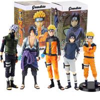 Wholesale uzumaki naruto anime figure for sale - Group buy Anime Naruto Figures Uzumaki Naruto Uchiha Sasuke Hatake Kakashi Grandista Collectible Model Toys T200106