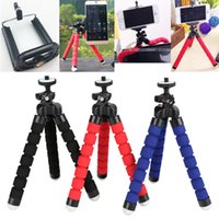 Wholesale Portable Tripod for Phone Flexible Sponge Octopus Mini Tripod for IPhone Mini Camera Tripod Phone Holder Clip Stand With phone Holder