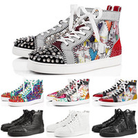 Christian Louboutin Suede Mens Womens Wohnung Sneakers