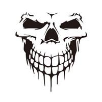 plastik iskelet kafatası toptan satış-Araba Sticker Araba Dövme Kafatası İskeleti Büyük Dekoratif Sticker (Siyah)