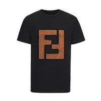 ingrosso camicie di cotone fresco-HOT 2019 Estate Fashion Brand manica corta da uomo T-shirt HBT020 Cool Eyes stile designer FF lettera cotone Abbigliamento uomo tshirt O-Collo tees