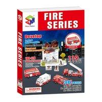 ingrosso costruire la casa di carta-all'ingrosso puzzle di carta 3D modello di edificio giocattolo serie di fuoco auto salvataggio scena casa del gioco regalo di compleanno del bambino regalo di natale 1 pz