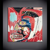 kahverengi tuval resmi toptan satış-KAHVE EGGS Jean Michel basquiat tarafından sanat, HD Tuval Baskı Ev Dekor Sanat Boyama / (Çerçevesiz / Çerçeveli)
