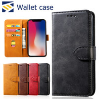 Wholesale huawei cell phone wallet online – custom For iPhone Pro Max S10 Lite Plus Wallet Case Luxury PU Leather Retro Flip Stand Cell Phone Back Case Cover with Credit Card Slots