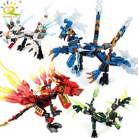 Wholesale jay toy resale online - 1set Ninja Dragon Building Blocks Compatible legoingly Ninja Bricks Action KAI JAY ZANE Cole Figures Enlighten Toys for Children