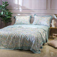 Wholesale comforters tencel online - Tencel comforter printed quilted quilt comfoter garden small fresh air conditioner duvet one piece only mutual color queen size cm