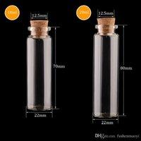 şişe şişeleri mantar toptan satış-Mantar Cam Şişeler Ile boş Cam Kavanoz Kolye Zanaat Temizle Cam Şişeler DHL kargo Seçmek için 22mm Çap Çoklu Şartname