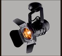 endüstriyel stil aydınlatma toptan satış-Vintage E27 Baz cep demir lamba Sanayi Işık Retro Lamba Ayarlanabilir 4 Yaprak Kahve Bar Loft tarzı Fikstür