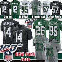 Wholesale 26 jersey for sale - Group buy 26 Le Veon Bell New York Jamal Adams Jets Sam Darnold Football Jersey Quinnen Williams C J Mosley Joe Namath