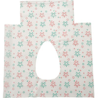 Wholesale paper sticky resale online - Safety Disposable Toilet Paper Non Woven Fabric Star Print Close Stool Seat Cover Potty Protector Travel Hotel Bathroom Accessory cr E19