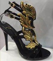 images de sandales à talons achat en gros de-014 Real Image Femmes Style Été Talons Hauts Boucle Strap Mode Soirée Chaussures De Soirée Sur Mesure Sandales À Talons Haut