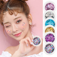 Wholesale 3mm glitter online - 3mm Star Love Moon Ultrathin Sequins Nail Art Glitter Mini Paillette Sequin Nail Face Decoration Eyeshadow Glitter Power