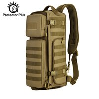 ingrosso army sling bag-30L Tattico Zaino Petto Sling Zaino Multifunzione Molle Borsa Militare Uomo Spalla Borse Army Alpinismo All'aperto XA44D # 304136