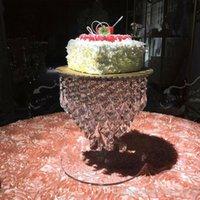 аксессуары для мониторов оптовых-Великолепный Кристалл торт стенд торт аксессуар 12-дюймовые подвески вращающийся фондант торт дисплей инструмент свадебные украшения