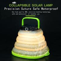 kamp çadırları için ışıklar toptan satış-Taşınabilir LED Teleskopik Lamba USB Solar Şarj kamp ışıkları Su Geçirmez güneş Acil çadır ışıkları MMA1881 için led dış aydınlatma