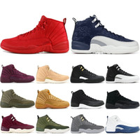 Wholesale basketball sneakers navy gold for sale - 12 s Basketball Shoes For Men New Gym Red Michigan College Navy Classic CNY PLAYOFF Designer XII Sport Sneakers Trainers