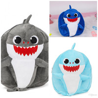 Wholesale pink blue girls bedding for sale - Cartoon D Baby Shark Backpack Blue Unisex Plush Knapsack School Bag Girl Boy Kids Snacks Wrap Pink Hot Sale mgb1