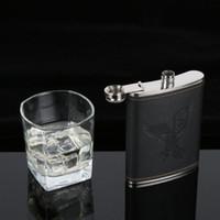gelber kolben großhandel-Edelstahl Hip Liquor Whisky Alkohol Flasche 7/8 / 9oz Wodka Weinflasche Neu