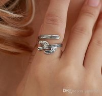 anillos abiertos antiguos de plata al por mayor-Catus Womens Rings Open Novelty Antique Gold Antique Silver Tone Jewelry Infinite Rings Idea para regalo