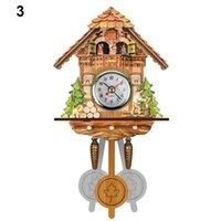 Wholesale bird wooden swing for sale - Group buy Antique Wooden Cuckoo Wall Clock Bird Time Bell Swing Alarm Watch Home Art