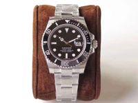 водонепроницаемые часы оптовых-Мужские часы роскошные часы 2813 движение автоматическое движение наручные часы керамический безель 30meter водонепроницаемый мода бизнес часы 116610 40 мм