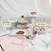 Wholesale crystal cake stand set for sale - Group buy Wedding Dessert Tray Cupcake Pan Cake Display Table Decoration Party Supply Set Crystal Candy Bar Cake Stand