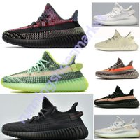Wholesale off white flat laces for sale - Group buy Yecheil Black Static Reflective Synth Antlia Off Kanye West Running Shoes For Men Women Clay Bred Butter Cream White Designer Sneakers