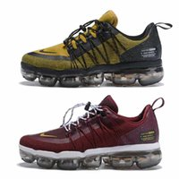 Wholesale mens casual shoes for summer resale online - 2019 Vapors Run Utility Casual Shoes For Men Triple White Black Reflective Medium Olive Burgundy Air Designers Mens Maxes Trainers Sneakers