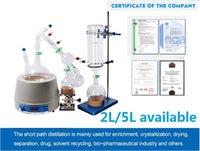 ingrosso attrezzature per laboratori-Apparecchiature di distillazione per piccoli percorsi in scala 5L da laboratorio La distillazione per percorsi brevi 5L contiene apparecchiature per pompe criogeniche e per vuoto