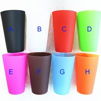 Wholesale portable wine glasses resale online - Portable Silicone Rubber Wine Glass Cups FDA Food Grade Tumbler Beer Cups Coffee cup outdoor travel cup foldable stemless silicone cup