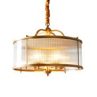 ingrosso gabbia in ottone-Moderna in ottone rame dorato appeso a catena lampada a sospensione luce gabbia per uccelli nido dinning soggiorno lampada a sospensione dorata luce