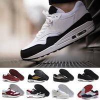 famosos zapatos de running al por mayor-nike air max airmax 87 90 Nuevo envío gratuito Famous 87 90 Ultra 1 Elephant Black Clear Jade-White para mujer para hombre zapatillas de deporte tamaño 36-45