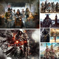 Wholesale diy digital paintings for sale - Group buy 5d Diy Diamond Painting Man Weapon Diamant Painting Assassin s Creed Game Diamond Embroidery Scape Mosaic Home Decor Gift X67