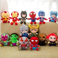 Wholesale spiderman doll toy for sale - Group buy 25cm Marvel Avengers Superhero all staff Plush toy Dolls Captain America Ironman Iron man Spiderman loki Thor Plush Soft Toy