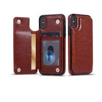 iphone kreditkartenschlitz großhandel-Für samsung s10 s9 s8 für iphone xs xr xs max lite 9 8 plus brieftasche case pu leder handy zurück case cover mit kreditkartensteckplätze
