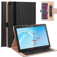 Book Flip Cover Case for Lenovo Tab M10 TB-X605F TB-X605L TB-X505F 10.1 inch Tablet with Stand with Hand Strap Card Slots