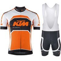 Wholesale ktm racing jersey for sale - Group buy 2019 KTM new men s bike jersey bib shorts outfit set racing suit short sleeve shirt summer sport bicycle Maillot Ropa Ciclismo