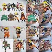 ingrosso naruto giocattoli gratis-Hottest 12 Style Anime Portachiavi Naruto Keychain Portachiavi Regalo Giocattoli per bambini PVC catena chiave Giocattoli per bambini spedizione gratuita