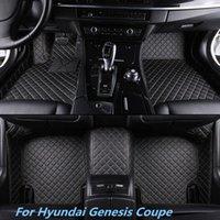 tapetes de carro de qualidade venda por atacado-Para Hyundai Genesis Coupe Nova Alta qualidade Man-Made Front Rear Liner Hihg-qualidade Couro Fit All Weather Não-slip Car Floor Mat