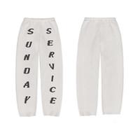 beyaz koşu pantolonu kadın toptan satış-Tasarımcı Beyaz Pazar pamuk Harf Baskılı Kadın Erkek Koşu Pantolon Hip hop Streetwear Erkekler eşofman Drop Shipping