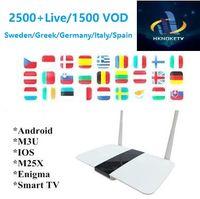 caja iptv árabe gratis al por mayor-HKONKETV IPTV Box Smart Android 6.0 Europe TV gratis para ver árabe Francés Alemania Reino Unido Italia España Canales de TV IP