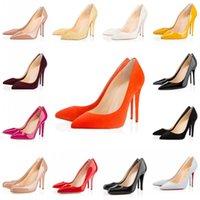 yüksek topuklu unisex toptan satış-Yüksek topuklu elbise ayakkabı parti moda perçinler kızlar seksi sivri burun ayakkabı toka platformu düğün ayakkabı pompala ...