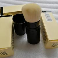 cajas simples al por mayor-LES BELGES cepillo simple CEPILLO RETRÁCTIL KABUKI con paquete al por menor Paquete Pinceles de maquillaje Blendersingle brush RETRACTABLE KA