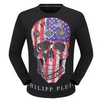 schädel sweatshirts für männer großhandel-2018 Neueste Sweatshirts Mode Baumwolle Männer Kühlen Schädel Gedruckt Beiläufige Dünne Langarm Sweatshirts Streetwear Männer Hip Hop Sport Kleidung