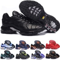 Wholesale snow boot design resale online - 2019 New Design Top Quality TN Mens shOes Breathable Mesh Chaussures Homme Tn REqUin Noir Casual Running ShOes Size A03